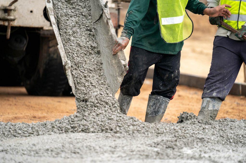 Mortel, cement of stabilisé